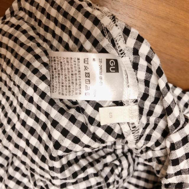GU(ジーユー)のジーユー ギンガムチェック ウエストリボン ブラウス シャツ gu レディースのトップス(シャツ/ブラウス(長袖/七分))の商品写真
