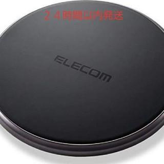 エレコム(ELECOM)のQI ワイヤレス 充電器 ブラック(バッテリー/充電器)