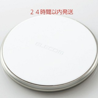エレコム(ELECOM)のQI ワイヤレス 充電器 シルバー(バッテリー/充電器)