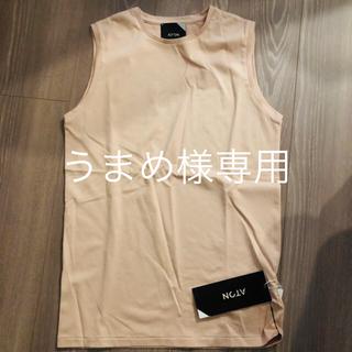 デミルクスビームス(Demi-Luxe BEAMS)の専用ATONエイトン レディースTシャツカットソー くすみ系ピンク新品未使用(Tシャツ(半袖/袖なし))