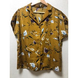 GU - GU / フラワープリントオープンカラーシャツ