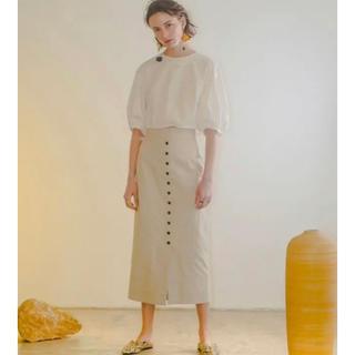 ルシェルブルー(LE CIEL BLEU)のルシェルブルー リネンペンシルスカート(ひざ丈スカート)