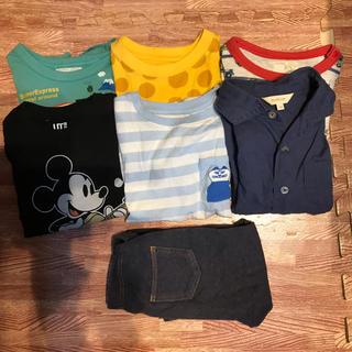 マザウェイズ(motherways)の男の子100セット 半袖6 パンツ1(Tシャツ/カットソー)