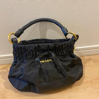 PRADA - プラダ レディ ナイロン バッグ リボン付き ブラック