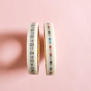 【USED】貼暦 タテ組 6mm幅(テープ/マスキングテープ)