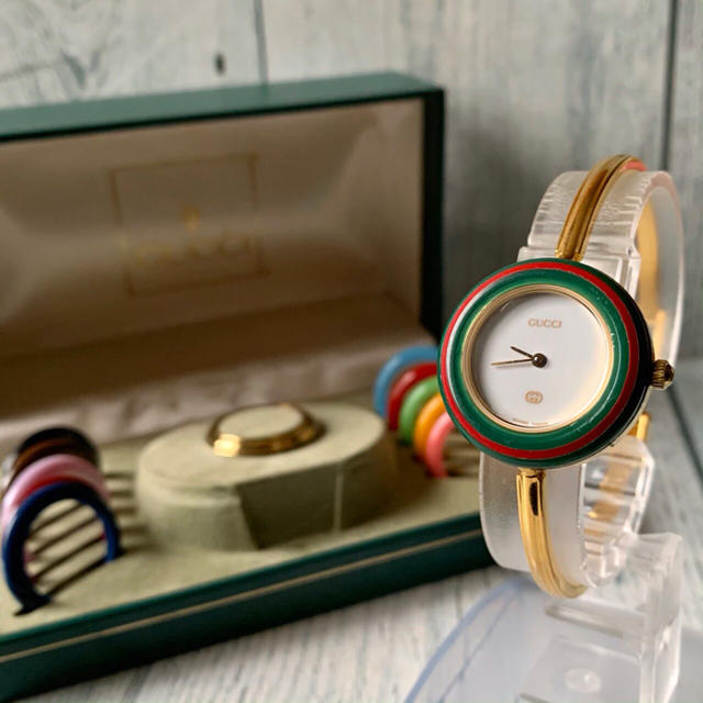 チャペック 時計 スーパー コピー / Gucci - 【動作OK】GUCCI グッチ チェンジベゼル ゴールド 12色完備の通販