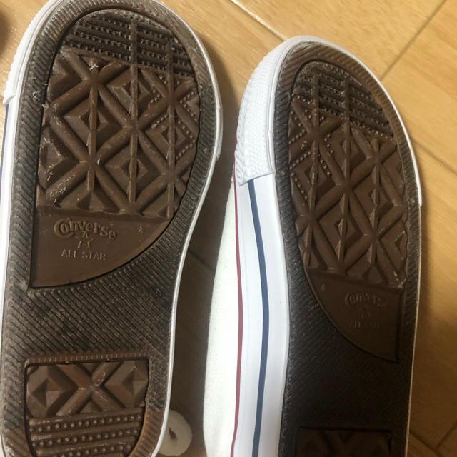 CONVERSE(コンバース)のコンバース   白 15センチ キッズ/ベビー/マタニティのキッズ靴/シューズ(15cm~)(スニーカー)の商品写真