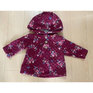 カーターズ(carter's)の女の子 パーカー 羽織り物 ワインカラー 花柄 カーターズ 60cm 70cm(ジャケット/コート)