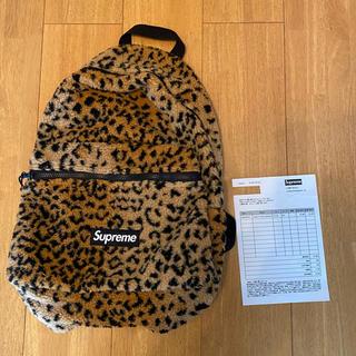 Supreme - Supreme 17AW Leopard Fleece Backpack