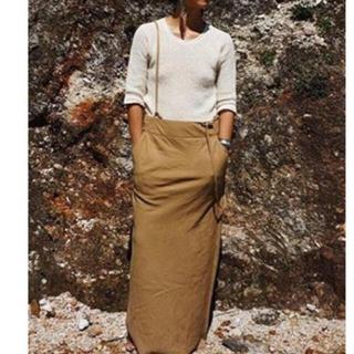 ファビアンルー(Fabiane Roux)のnowos 新品 サスペンダースカート ノーウォス 今期(ロングスカート)