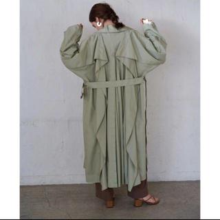 STUDIOUS - 2020【CLANE クラネ】バックフリルスリーブトレンチコート ミント