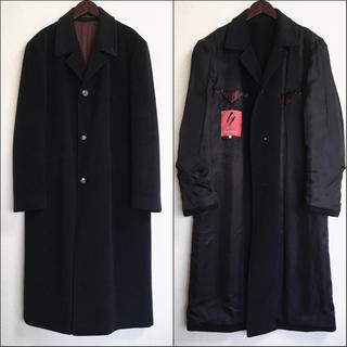 Yohji Yamamoto - ワイズフォーメン 97AW 赤ラベル ウールフラノスーパーロングコート 黒