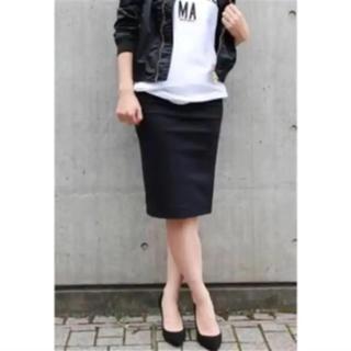 ドゥーズィエムクラス(DEUXIEME CLASSE)のDeuxieme Classe ドゥーズィエムクラス タイトスカート 黒 美品(ひざ丈スカート)