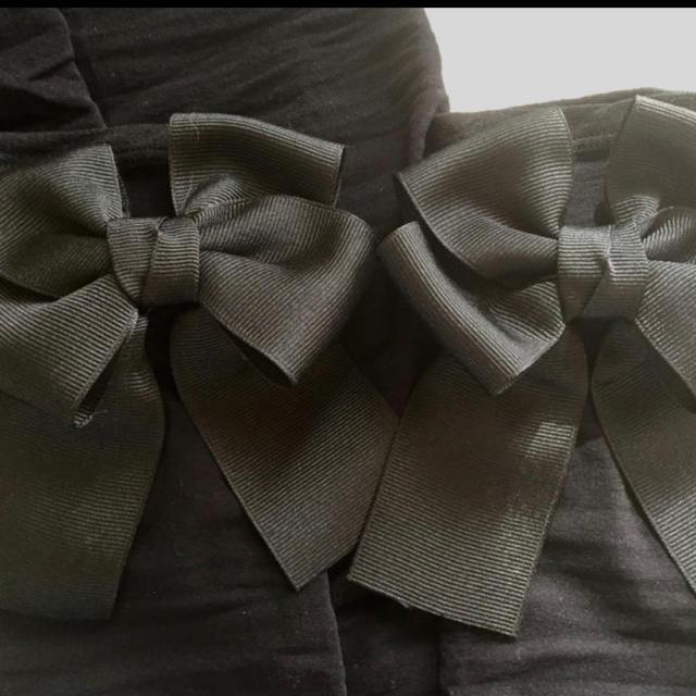 ⭐️リボン黒 UVアームカバー70cm フィットタイプ 紫外線日焼け対策 美白 レディースのファッション小物(手袋)の商品写真