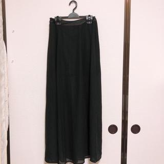 フォーエバートゥエンティーワン(FOREVER 21)のシースルーロングスカート(ロングスカート)