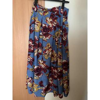 ラグナムーン(LagunaMoon)のラグナムーン#花柄スカート#(ロングスカート)