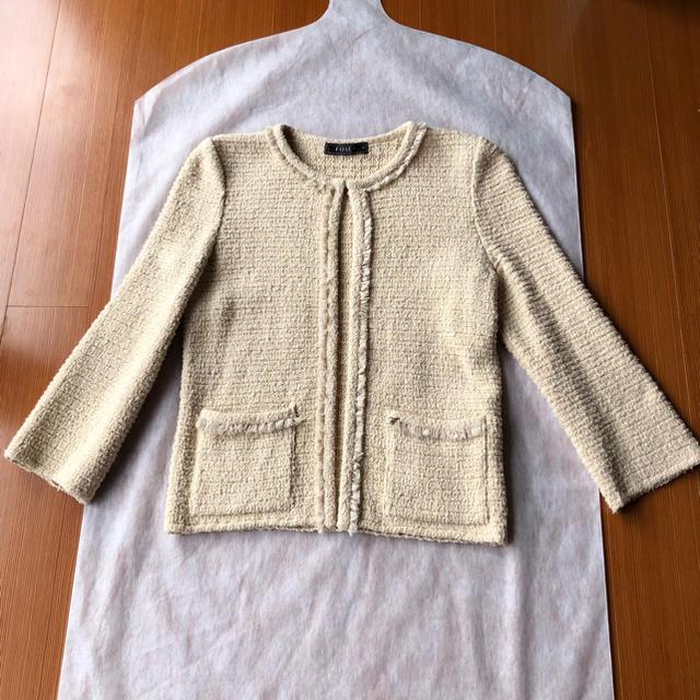 FOXEY(フォクシー)の美品♡ FOXEY ふわふわツイードカーディガン 38 フォクシー レディースのジャケット/アウター(ノーカラージャケット)の商品写真
