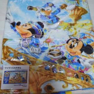 ディズニー(Disney)の【最終値下げ】新品・未開封♡ディズニーシー♡15周年♡ワイドバスタオル(キャラクターグッズ)