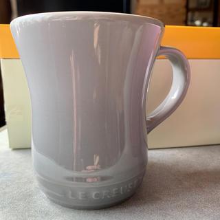 ルクルーゼ(LE CREUSET)の新品未使用 ル・クルーゼ マグカップ グレー ペアカップ(グラス/カップ)