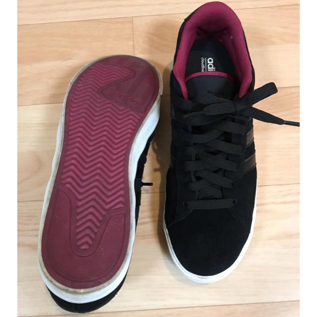 adidas(アディダス)のadidas 黒スニーカー23.5 レディースの靴/シューズ(スニーカー)の商品写真