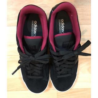adidas - adidas 黒スニーカー23.5
