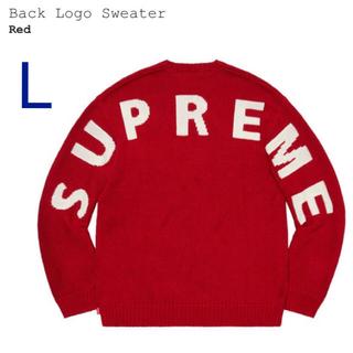 Supreme - L Supreme Back Logo Sweater red 赤