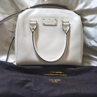 kate spade new york - 正規品 ケイトスペード バッグ ホワイト 美品