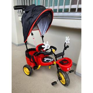 ディズニー(Disney)の三輪車 カーゴサンシェード ミッキーマウス  (三輪車)