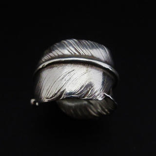 goro's - goro's ゴローズ SV特大フェザーリング 左向き 17号 指輪 本物