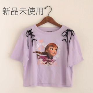 新品 アナ 編み上げデザイントップス(Tシャツ(半袖/袖なし))