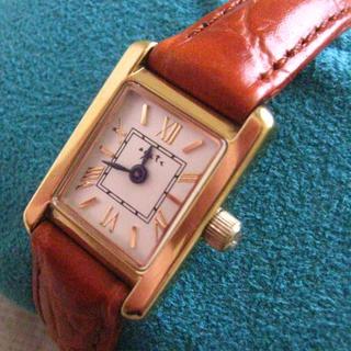 アガット(agete)の3月セール!【送料込・動作品】アガット★腕時計★ダイヤ1P★タンクタイプ(腕時計)
