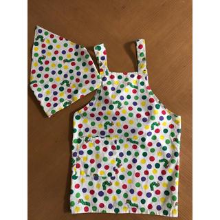 西松屋 - はらぺこあおむし エプロン 110cm  三角巾セット