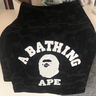 アベイシングエイプ(A BATHING APE)のBAPEマフラー 迷彩柄ブラック(マフラー)
