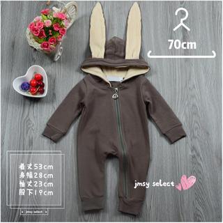 babyGAP - 海外子供服 70cm うさ耳 ロンパース カバーオール