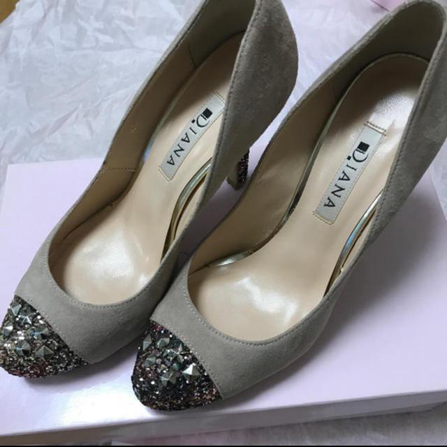 DIANA(ダイアナ)のダイアナ DIANA キラキラパンプス 22.5センチ レディースの靴/シューズ(ハイヒール/パンプス)の商品写真