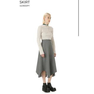 ENFOLD - 定価42900円 enfold エンフォルド  変形デザインスカート グレー
