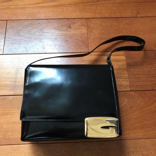 ロレックス 掛け 時計 偽物 - Gucci - オールドグッチ GUCCI パテントレザー ショルダーバッグ ゴールド金具の通販