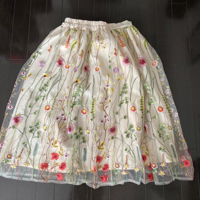 Chesty(チェスティ)の花柄 刺繍 スカート レディースのスカート(ロングスカート)の商品写真