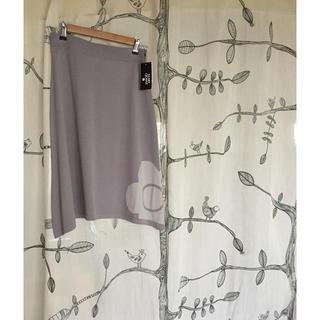 マリークワント(MARY QUANT)のマリークワント ロゴ ニットスカート 新品タグ付き(ひざ丈スカート)