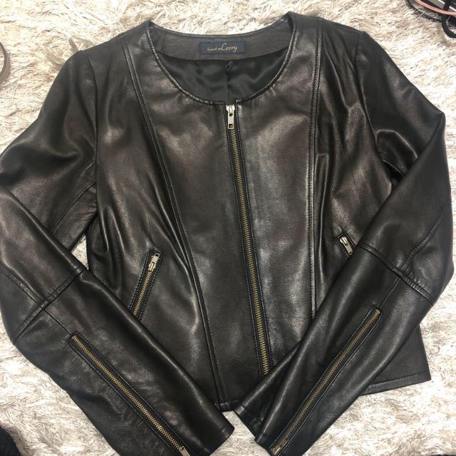 rienda(リエンダ)のleory♡レザージャケット ライダースジャケット レディースのジャケット/アウター(ライダースジャケット)の商品写真