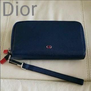 ディオール(Dior)のDior  ダブルジップ財布 ユニセックス ネイビー(長財布)