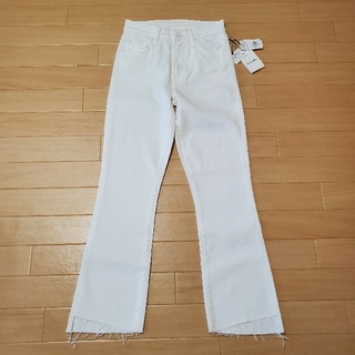 DEUXIEME CLASSE - MOTHER WHITE INSIDER CROP  ドゥーズィエムクラス購入
