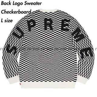Supreme - Supreme Back Logo Sweater Checkerboard L