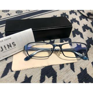 ジンズ(JINS)のJINS PCメガネ ブルーライトカットメガネ ネイビー(サングラス/メガネ)