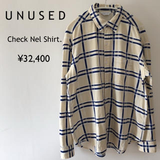 UNUSED - UNUSED * コットンBIGチェックシャツ