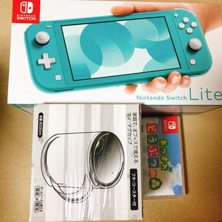 ニンテンドースイッチ(Nintendo Switch)のNintendo Switch  Lite ターコイズ どうぶつの森セット(携帯用ゲーム機本体)