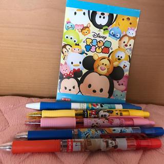 ディズニー(Disney)のディズニー ボールペン5本とメモ帳(キャラクターグッズ)