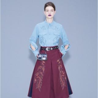 トーガ(TOGA)の【TOGA PULLA】18SS エンブロイダリー刺繍スカート 36(ロングスカート)
