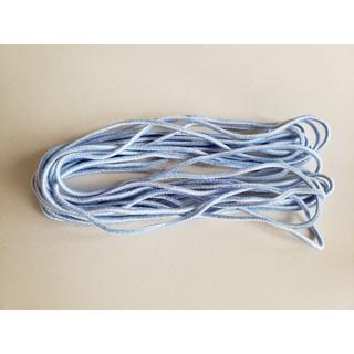 カラーマスクゴム 白×水色 約5m ハンドメイド(生地/糸)