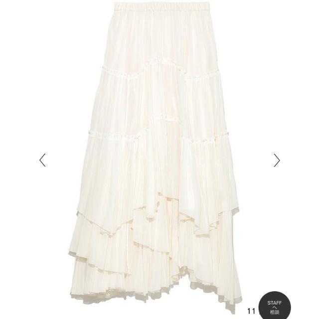 BEAUTY&YOUTH UNITED ARROWS(ビューティアンドユースユナイテッドアローズ)のCASA FLINE コットンティアードスカート レディースのスカート(ロングスカート)の商品写真